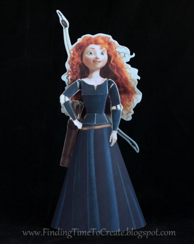 Merida 3D Paper Doll