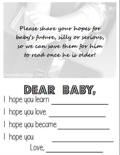 Printable Baby's First Birthday Mad Lib - Swoodson Says