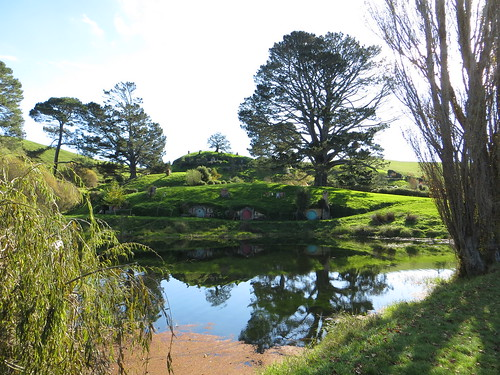 hobbit holes by the lake