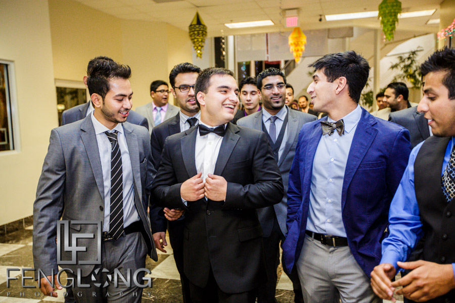 Groom's entrance for Muslim wedding