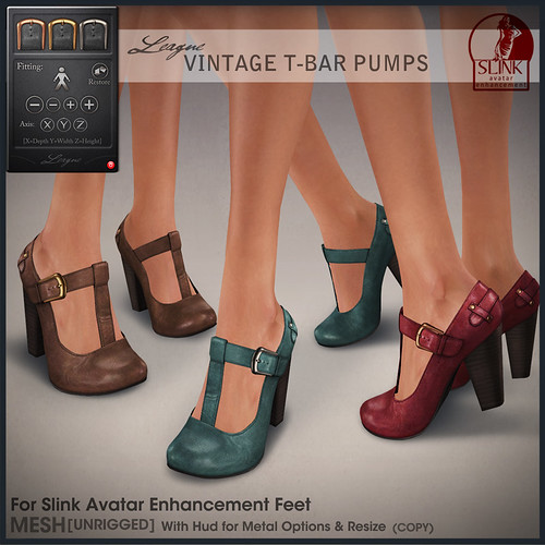 *League* Vintage T-Bar Pumps