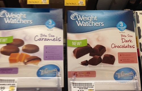 Whitman's Weight Watchers Bite Size Dark Chocolate and Caramels
