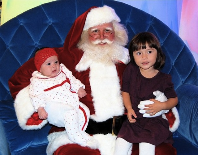 Maura's first visit with Santa
