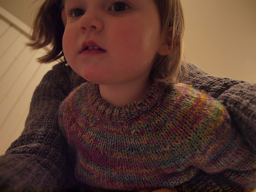 """Extra Yarn"" sweater neckline"