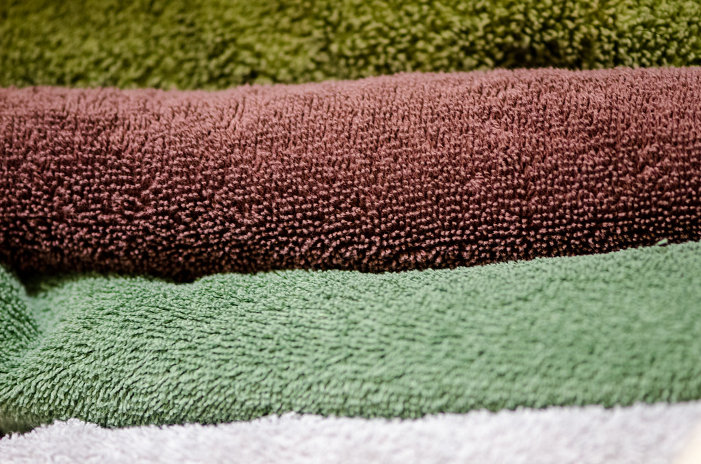 Photo:Bath towels macro By:m01229