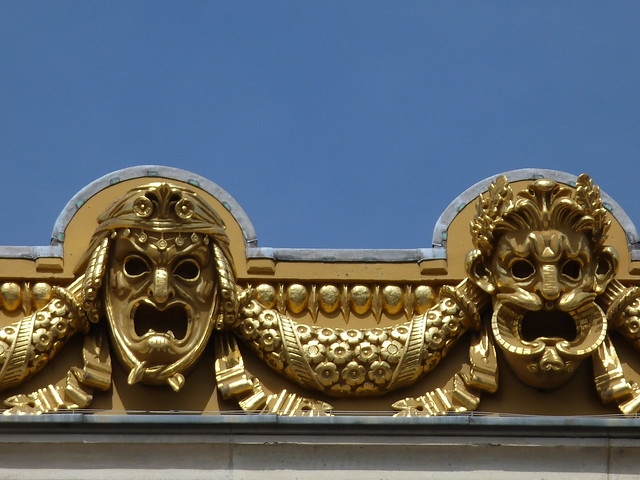 Paris Opera Garnier façade details