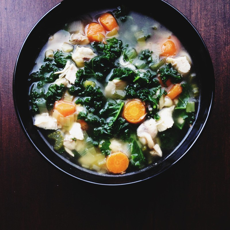 Lemon Dill Chicken Soup with Kale, Carrot, Leek and Celery ...