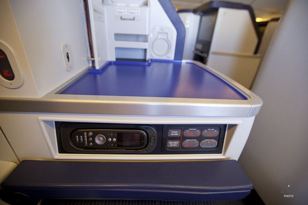 Seat Controls in Business Class