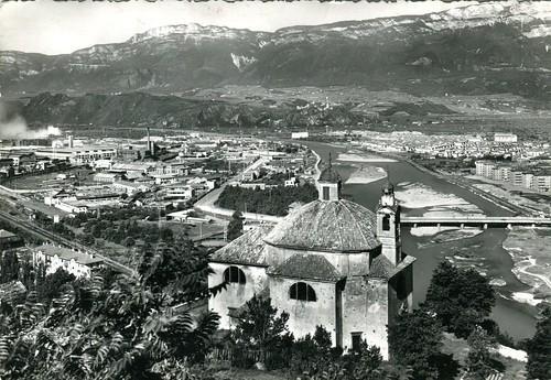 postcard - bolzano - panorama città industriale - 1952