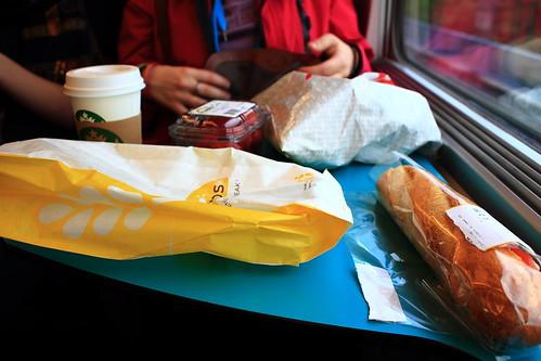 Dinner on train