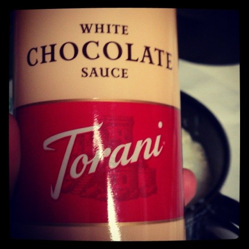 Found a positive for going to the insane Walmart on Wanamaker.... @torani syrup sauce! #delicious #whitechocolate