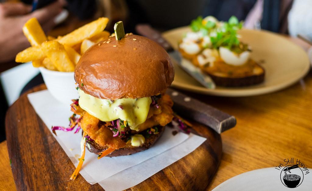 Kepos Street Kitchen chicken sandwich burger