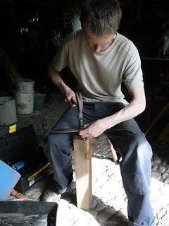 Scythe peening