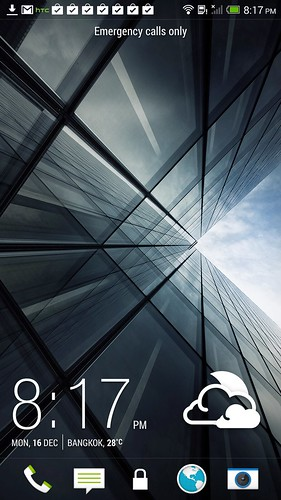 Home screen ของ HTC One Max