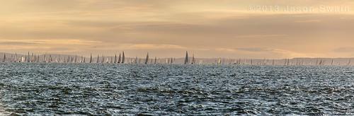2013 Round the Island Race Panorama.