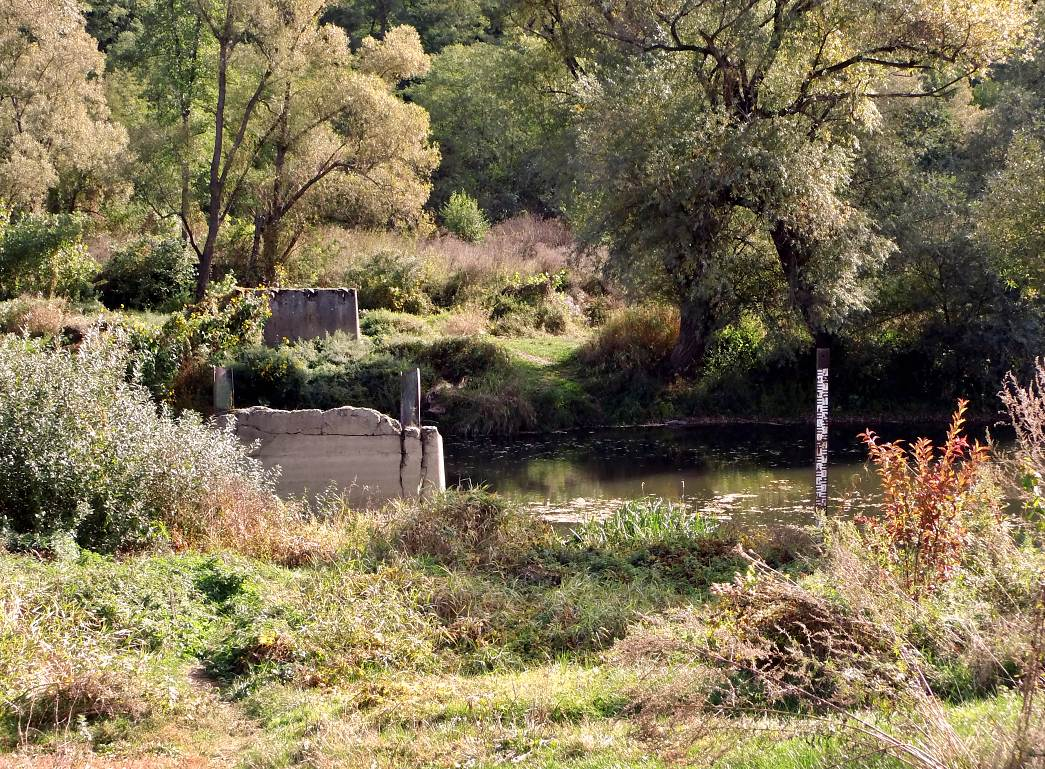 Zvyšky mosta v Muli