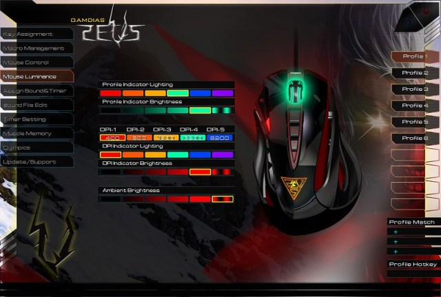 GAMDIAS ZEUS Esport Edition Laser Gaming Mouse 20
