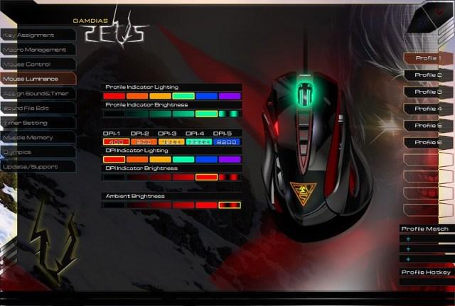 GAMDIAS ZEUS Esport Edition Laser Gaming Mouse 66