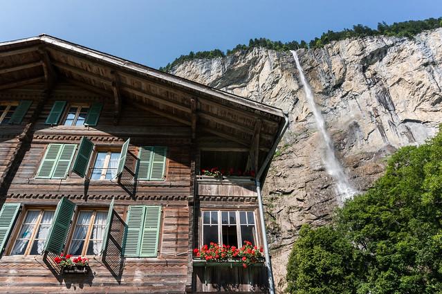Chalet, Staubbach Falls, Switzerland