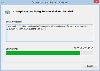 Download language update and install