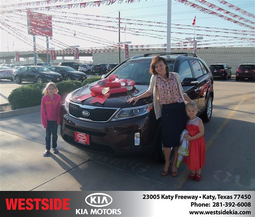 Thank you to Irina Platunova on the 2014 Kia Sorento from Gilbert Guzman  and everyone at Westside Kia! by Westside KIA