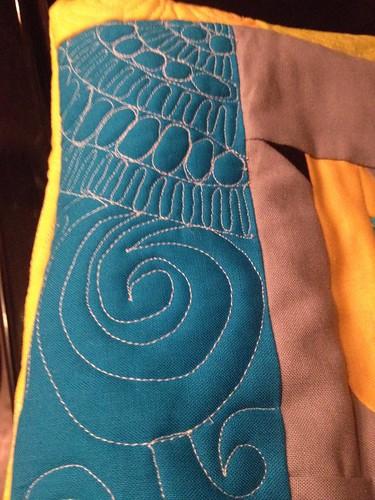 FMQ Pot Cozy Blue Swirl