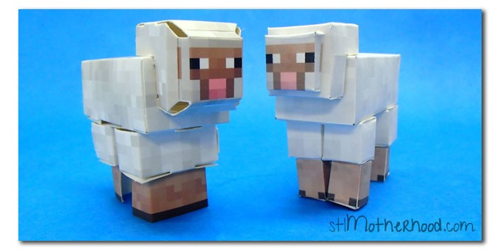 minecraft paper sheep