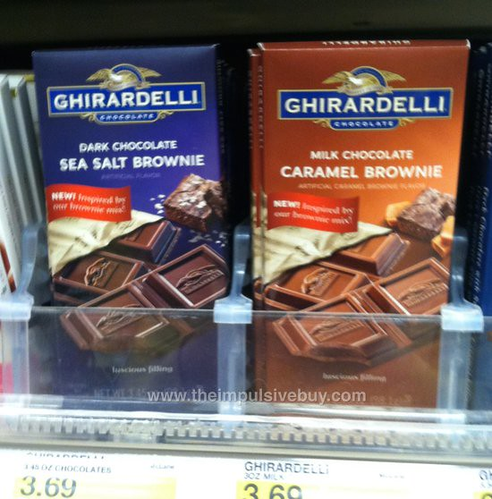 Ghirardelli Brownie Bars (Dark Chocolate Sea Salt and Milk Chocolate Caramel)