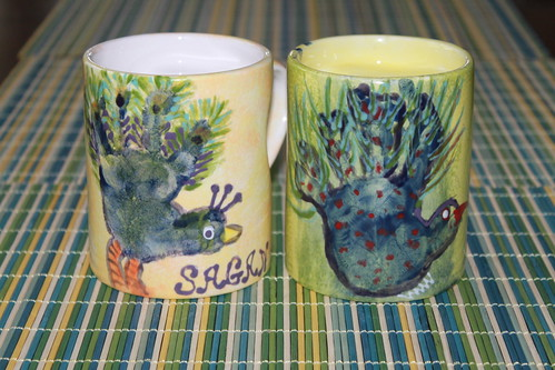 Mother's Day 2013 - Handprint Coffee Mugs for the Grandmas