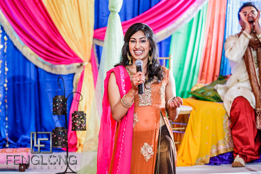 Speeches during Indian wedding Sangeet