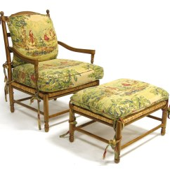 French Provincial Chair And Ottoman Oversized Chaise Lounge Chairs 2 Country Arm