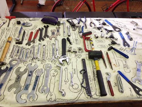 bicycle repair and maintenance tools