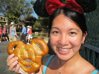 Mickey shaped pretzel