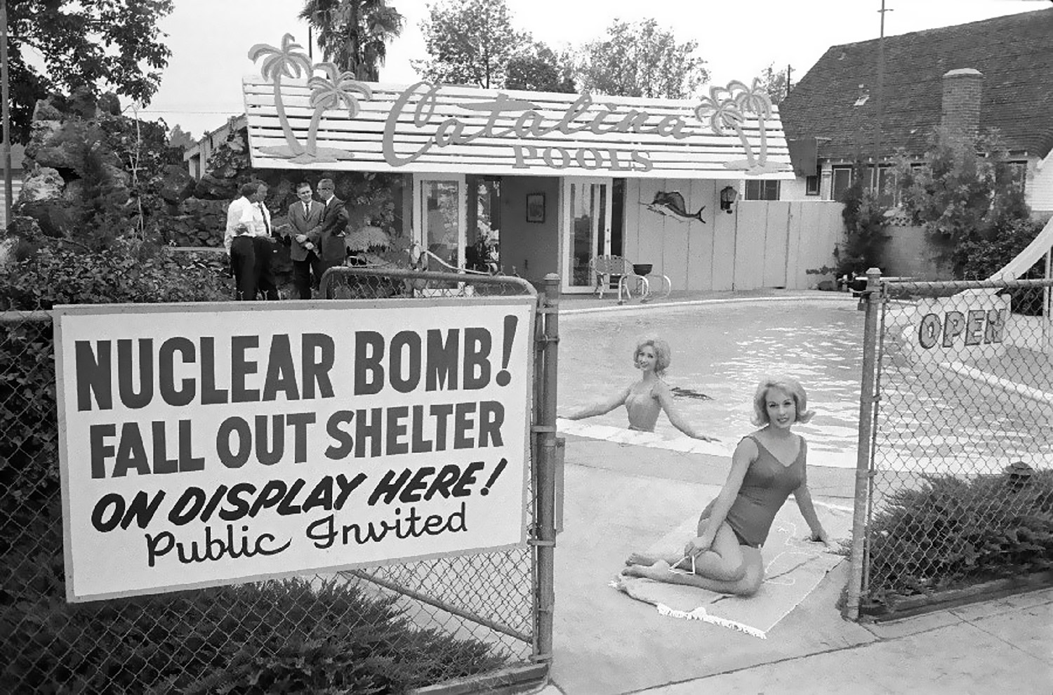 Early 1960s - Nuclear Bomb Fallout Shelter On Display Here