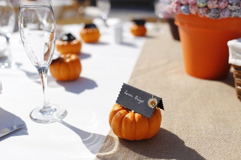 DIY Fall Wedding Place Cards