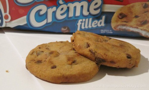 Nabisco Oreo Creme Filled Chewy Chips Ahoy Cookies Looks like a regular Chewy Chips Ahoy, don't it?