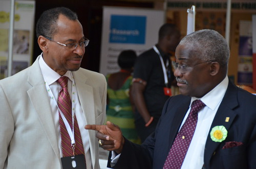 Jimmy Smith with Kanayo Nwanze, president of IFAD, at AASW6