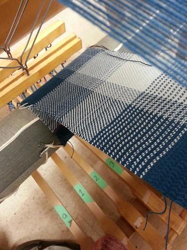 Weaving Twill cotton sampler underside
