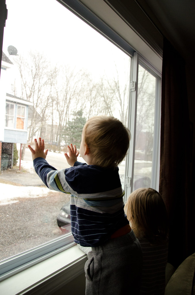 watching the snow fall...again...