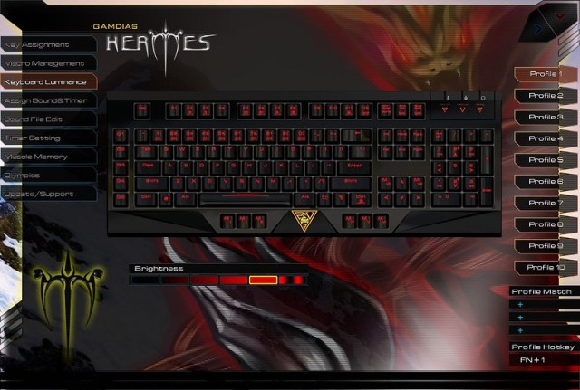 GAMDIAS HERMES Mechanical Gaming Keyboard 110