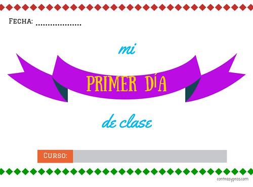 Primer día de clase, descargable e imprimible gratis