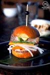 Sydney Food Blog Review of Junk Lounge at Cruise Bar, Circular Quay: Pork belly banh mi slider with pickled daikon, cucumber & shallots, $7