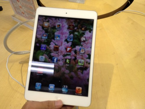 iPadminiの魅力は軽さ