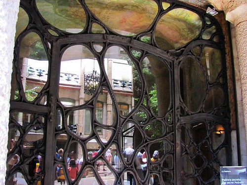 Barcelona, Spain Gaudi La Pedrera House Entrance