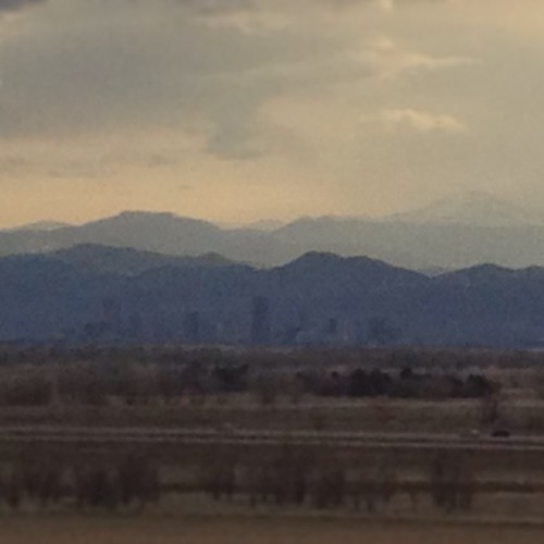 Downtown #denver about 29 miles away thru iPhone by @MySoDotCom