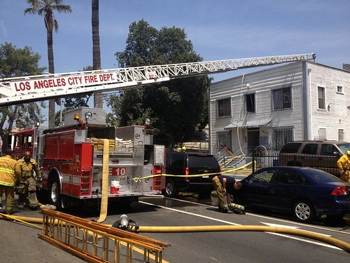 LAFD Battles Apartment Fire that Injures Teenager
