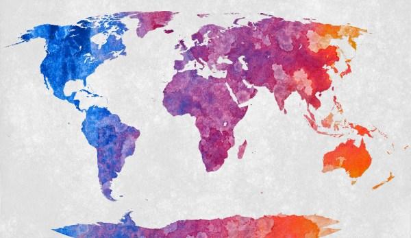 World Map Abstract Acrylic Flickr Photo Sharing!