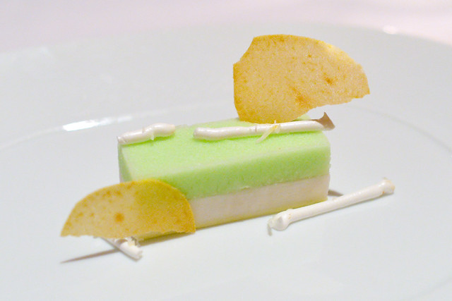 Green Apple and Coconut Battera, French Meringue