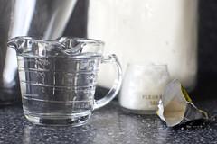 bowl, flour, yeast, salt, water (so easy)