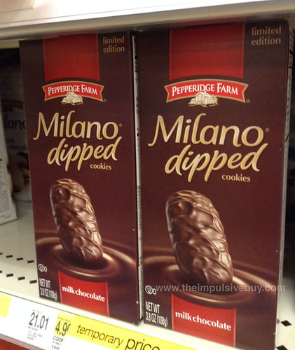 Pepperidge Farm Limited Edition Milk Chocolate Milano Dipped Cookies